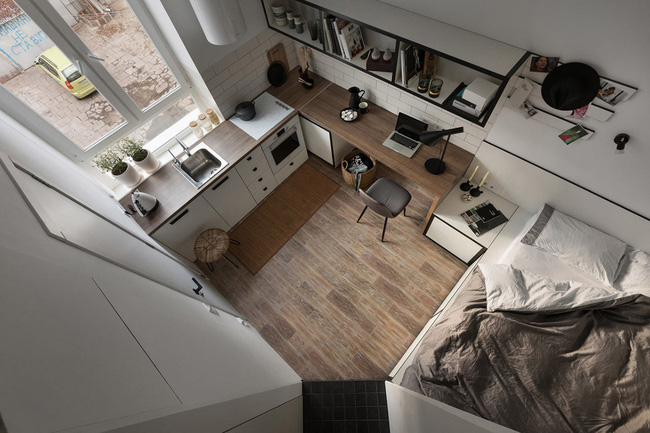 Căn hộ nhỏ vỏn vẹn gần 18m² này chứng minh cho bạn thấy ở nhà nhỏ vẫn tuyệt như nhà to - Ảnh 4.