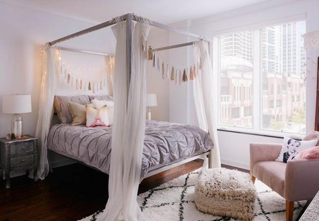 Những mẫu giường Canopy vừa đẹp vừa nữ tính khiến chị em mê mẩn - Ảnh 12.