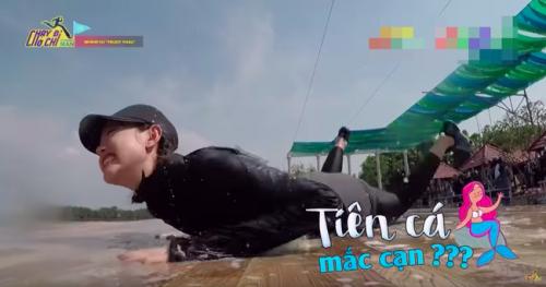 Không chỉ lộn nhào ở sàn catwalk đâu, Minh Hằng cũng vừa có cú phi người kinh điển tại Running Man  - Ảnh 8.