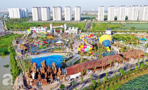 Những hình ảnh tuyệt đẹp trong công viên nước khổng lồ mới ở ngoại thành Hà Nội, thu hút các gia đình dịp hè này - Ảnh 1.