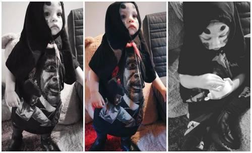 Hóa trang Halloween quá dễ thương, nhưng cậu bé có ảnh thật bất ngờ