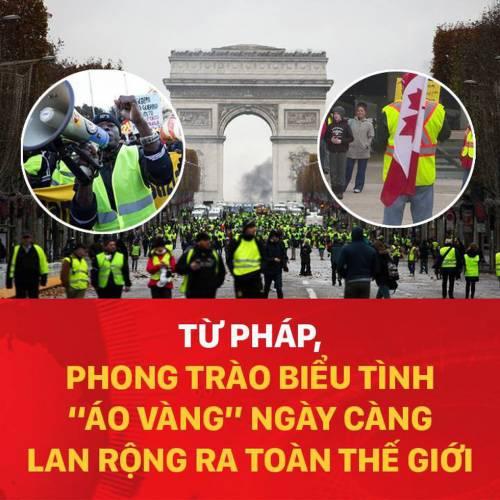 Từ Pháp, phong trào biểu tình áo vàng ngày càng lan rộng