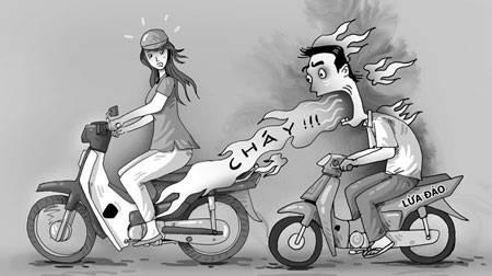 Đủ chiêu dàn cảnh lừa người đi đường