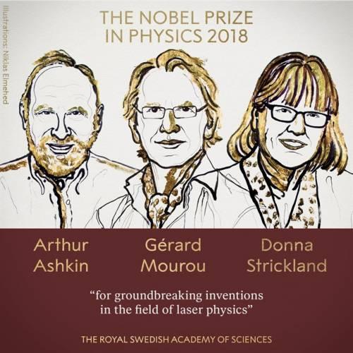 Nobel Vật lý 2018 trao cho 3 nhà khoa học về công nghệ laser